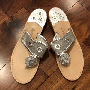 Jack Rogers sandals silver sparkle sz 9